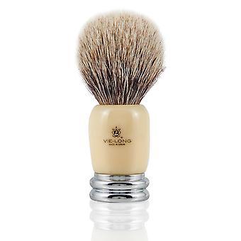 Vie-Long 16601 White Badger Shaving Brush