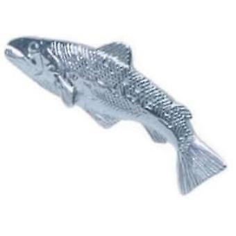 David Van Hagen Forelle Fisch Sterlingsilber Tie TAC - Silber