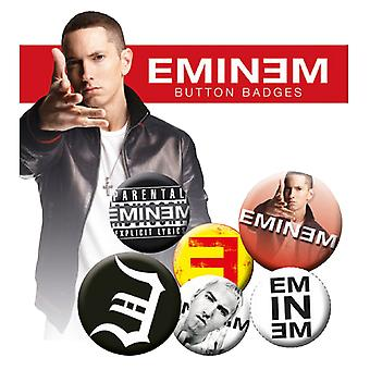 Eminem Badge Pack Logo kamikaze Recovery New Official (4x 25mm & 2x 32mm)