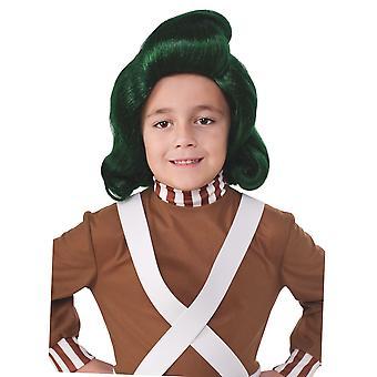 Oompa Loompa Willy Wonka und die Schokoladenfabrik Buch Woche jungen Kostüm Perücke