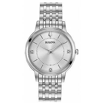 Bulova Women's Diamond Dial Stainless Steel Bracelet 96 P 183 Watch