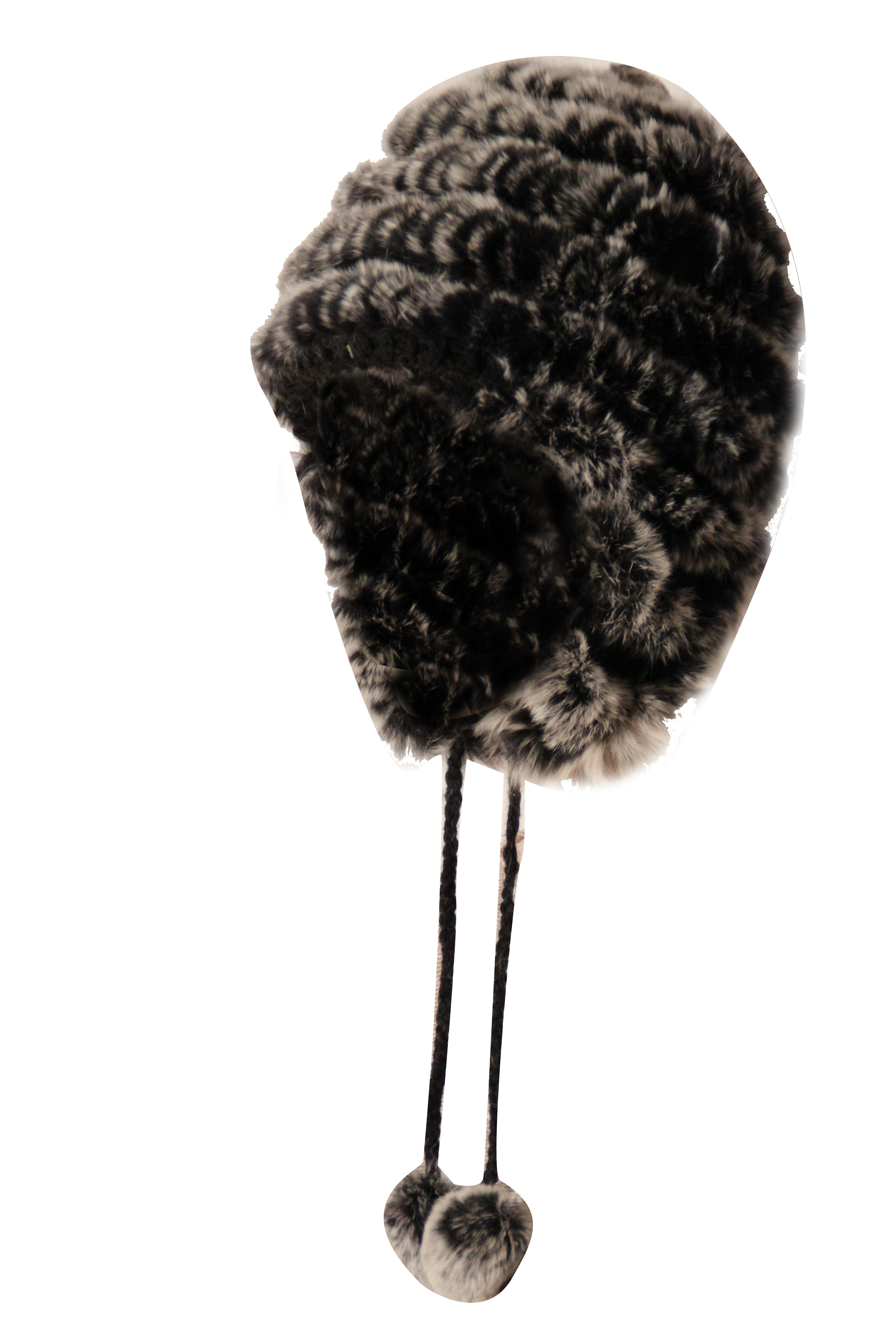 Waooh - Fashion - In Fur Hat Knitted Rex Rabbit