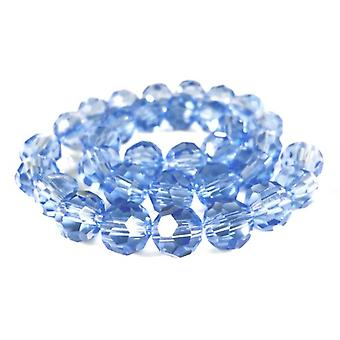 Strand 70+ Pale Blue Czech Crystal Glass 6mm Faceted Round Beads GC3558-2