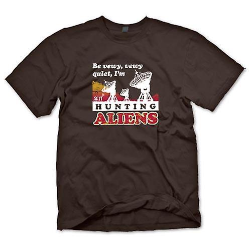 Mens t-shirt - SETI - UFO - alieni cacciatori - astronomia