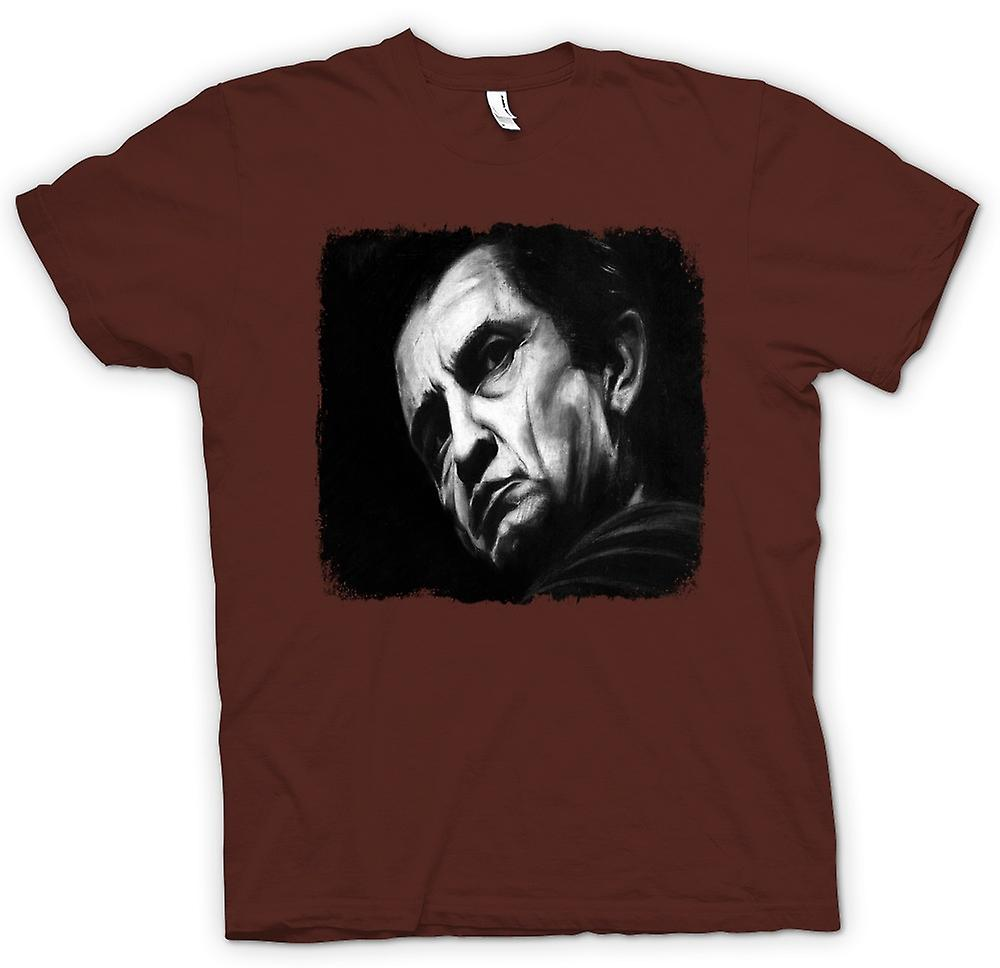 Hommes T-shirt - Johnny Cash - Croquis - Portrait
