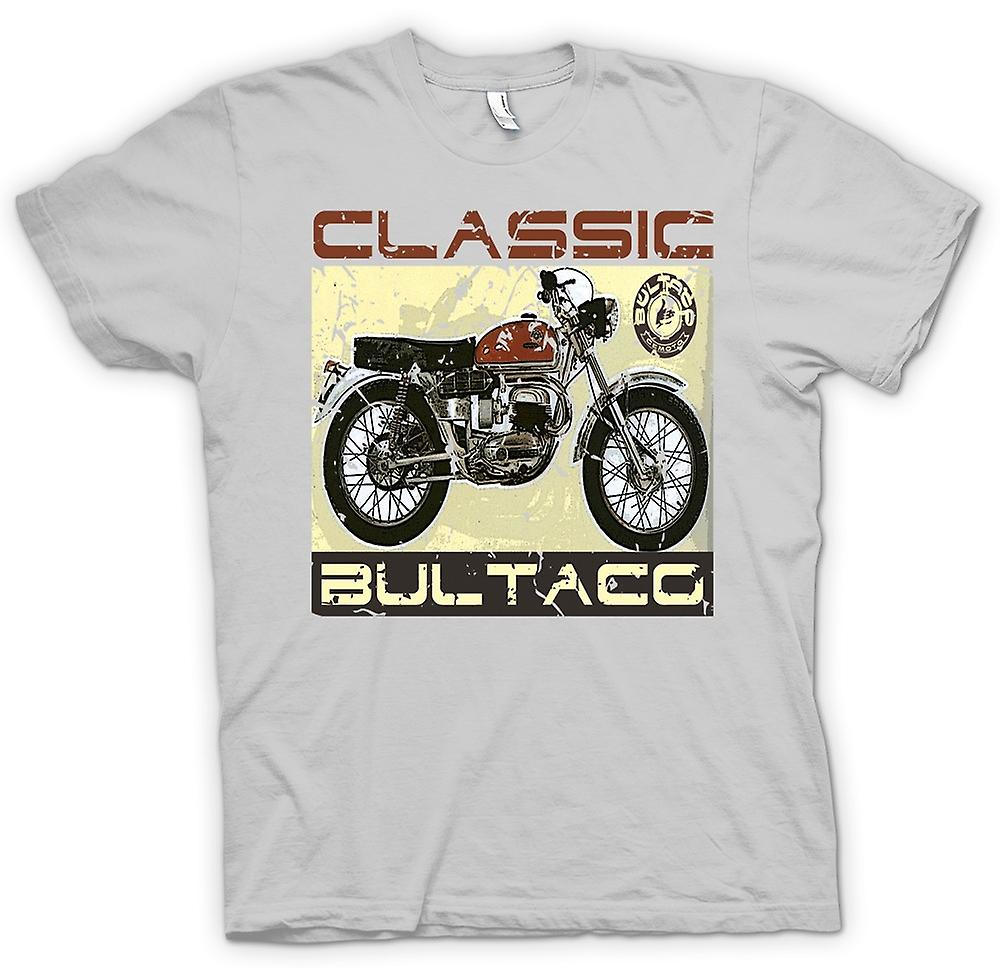 Herr T-shirt-Bultaco Classic Dirt Bike