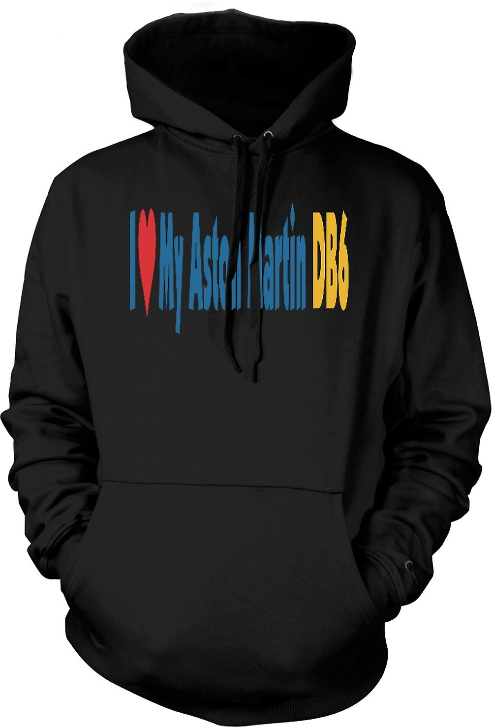 Mens Hoodie - I Love My Aston Martin DB6 - Car Enthusiast
