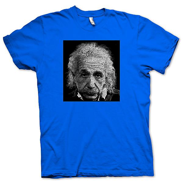 Mens t-skjorte - Albert Einstein Word Cloud - geni
