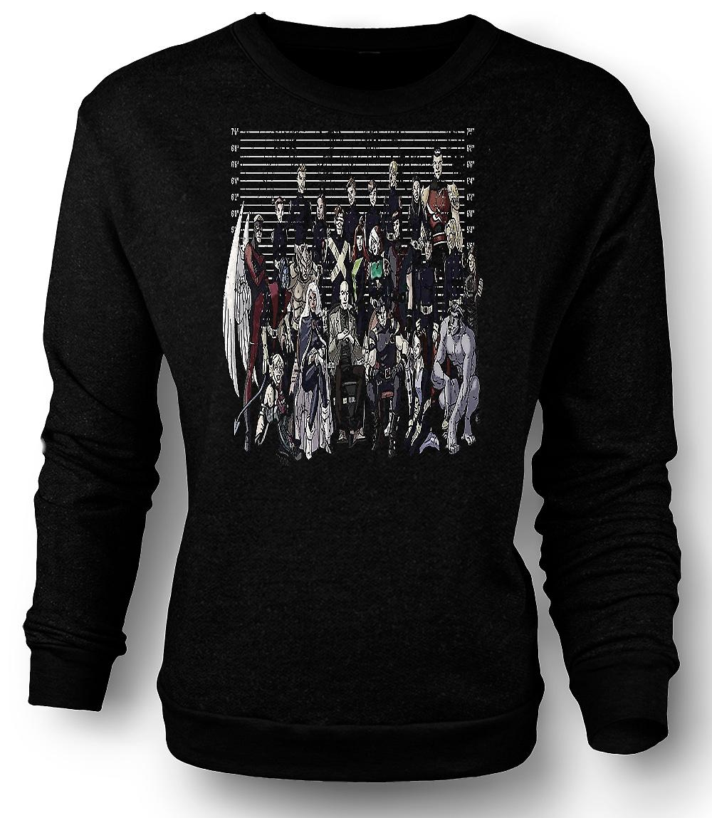 Mens Sweatshirt X Men - Mug Shot - Funny