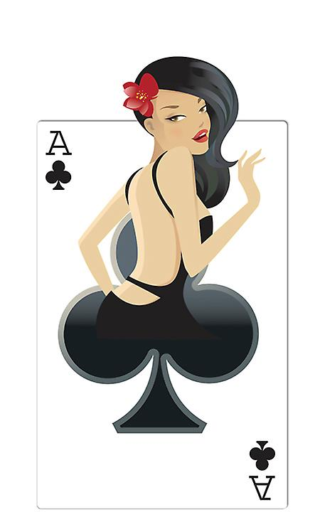 Babe (Poker Night) - clubs Lifesize karton gestanst / Standee