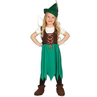 Costume de déguisements filles Robin des bois Archer