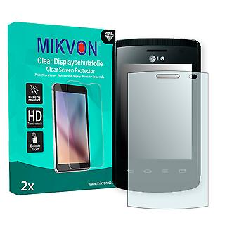 LG E410 Optimus L1 II Screen Protector - Mikvon Clear (Retail Package with accessories)