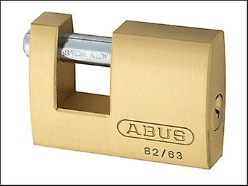 ABUS 82/63 63mm Monoblock Brass Shutter Lock Keyed 8501
