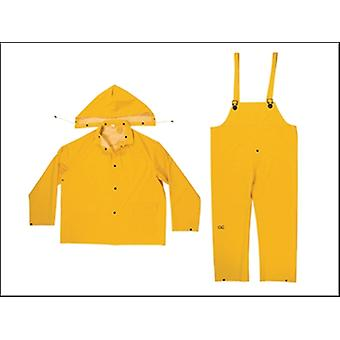 R101 .35 MM 3-PIECE YELLOW RAIN SUIT XXL