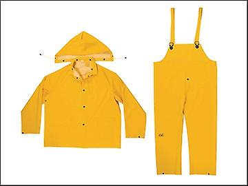 Kuny's R101 3-Piece Yellow 0.35mm PVC Rain Suit - XXL