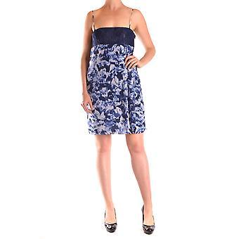 Pinko Blue Silk Dress