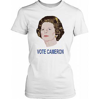 Cabeza de Margaret Thatcher - voto Cameron las señoras T Shirt