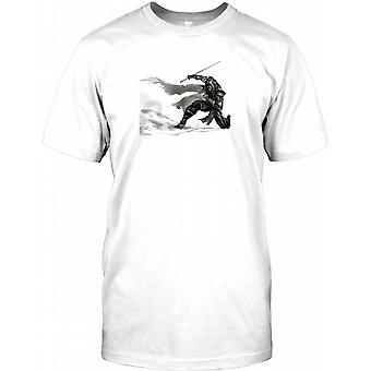 Samurai Ninja fekter - Bushido Mens T-skjorte