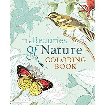 Naturens skönheter målar bok: färg läggning blommor, fåglar, fjärilar, & Wildlife