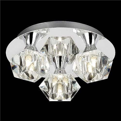 Endon ARIETTA-3PCH Arietta Modern 3 Light Ceiling Plate With Clear Glass Shades