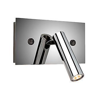 Firstlight-LED 1 licht indoor wandlamp (geschakeld) gepolijst roestvrijstaal-4896PST