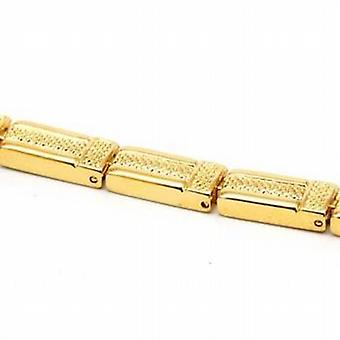 The Olivia Collection Ladies Goldtone Square Link Magnetic Bracelet 7.5 Inches