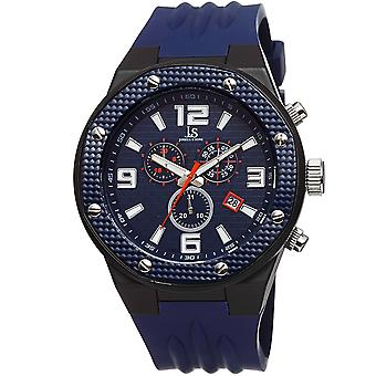 Joshua & Sons Men's Multifunction Swiss Quartz Watch with Brick Pattern  Dial and  Silicone Strap Watch  JS62BU