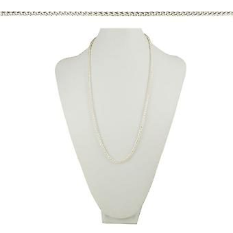 Eternal Collection Cavallino Woven Pony Tail Link 26 Inch Silver Tone Necklace