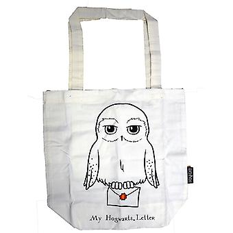 Licensed harry potter™ hedwig™ print tote bag