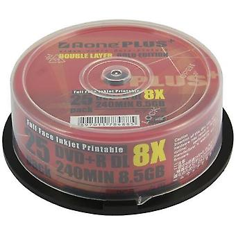 Triple Pack 75 Aone DVD+R 8x Write Blank Discs 8.5GB DL Dual Layer Full Inkjet Printable 25pcs/cake box (75 Discs) OVERBURN (AOne+ Plus Gold)