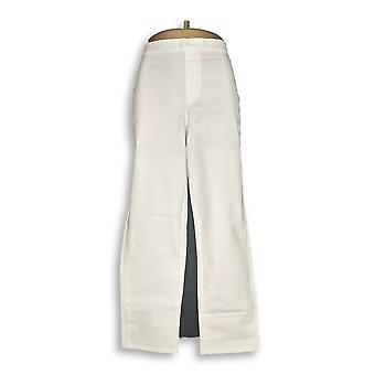 Isaac Mizrahi Live! Vrouwen ' s broek 24/7 stretch wit A302696