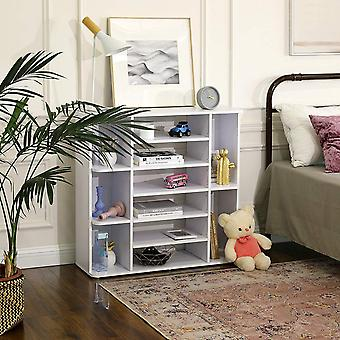 Storage cabinet with 11 compartments