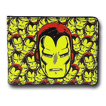 Iron Man gelb Collage Bi-Fold Brieftasche