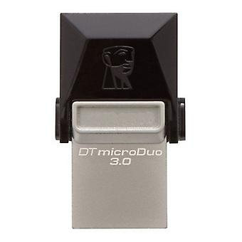 Kingston DTDUO3 64 GB USB flash drive and micro USB 3.0 black grey