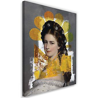 Picture on Canvas woman portrait Image Decor Multicolor