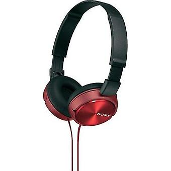 Headphone Sony MDR-ZX310 On-ear Foldable Red