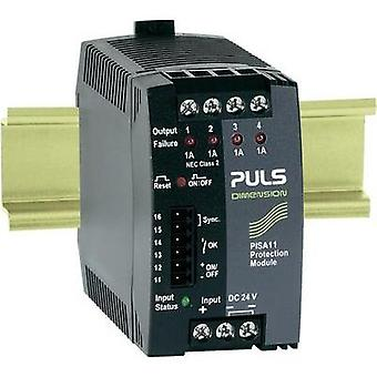 PULS DIMENSION PISA11.401, 4-Output DIN Rail Protection Module 24 V/DC 4 A