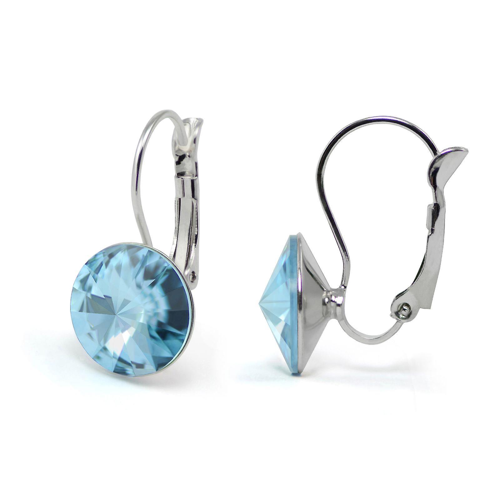 Kristall Ohrringe Aquamarin EMB 1.2