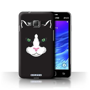 STUFF4 Case/Cover for Samsung Z1/Z130/Black Cat/Animal Faces
