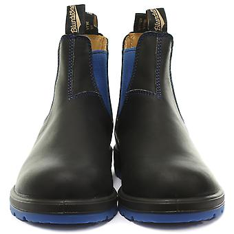 Blundstone 1403 Black/Blue Leather Unisex Chelsea Boots