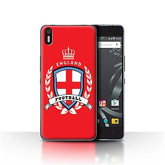 STUFF4 Case/Cover for BQ Aquaris X5/England/English/Football Emblem