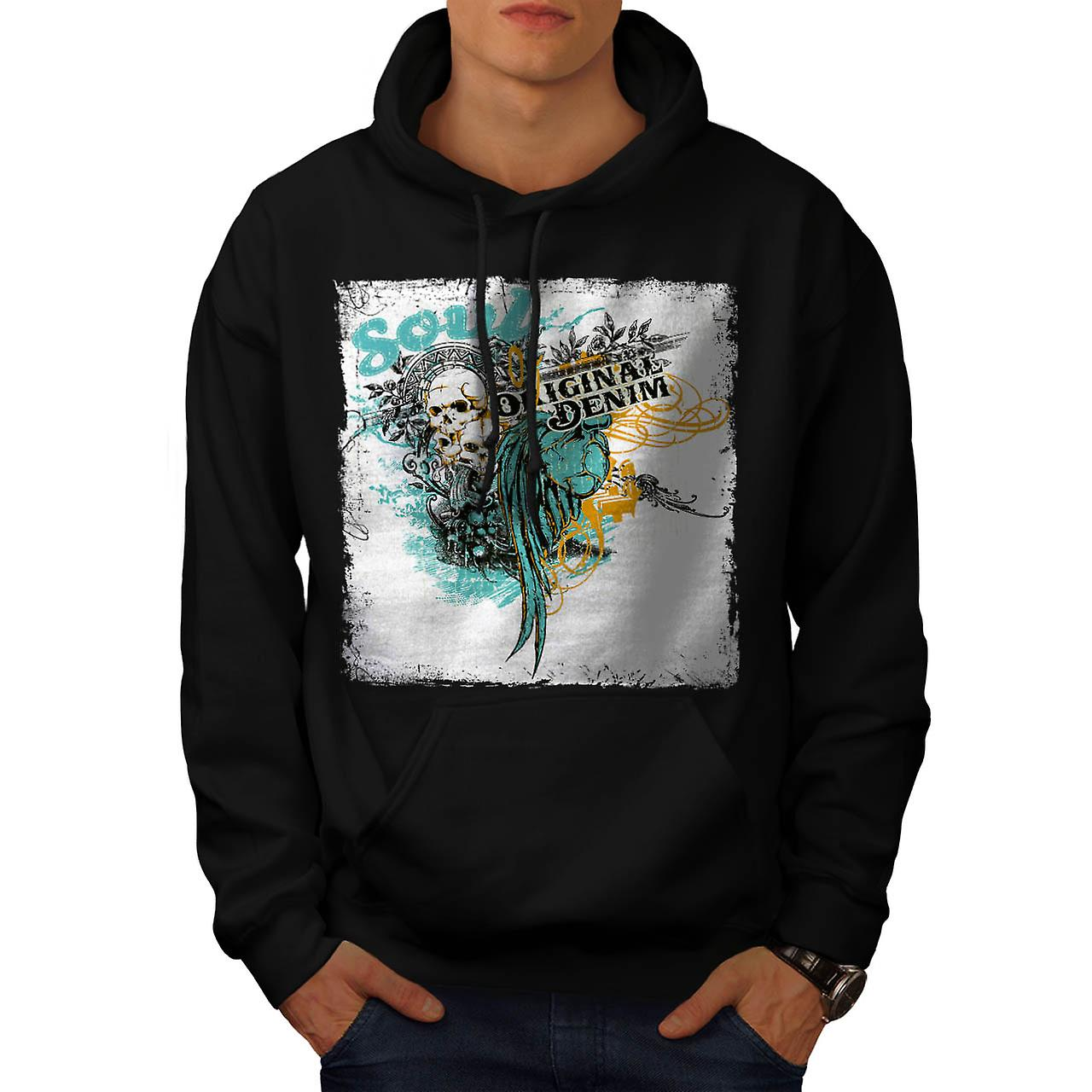 Soul Original Art Fashion Men Black Hoodie | Wellcoda