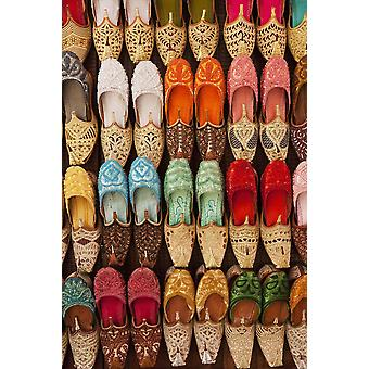 Traditional Shoes For Sale In Market Dubai United Arab Emirates PosterPrint