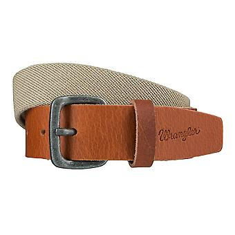 WRANGLER belt leather belts men's belts stretch belt beige / Brown