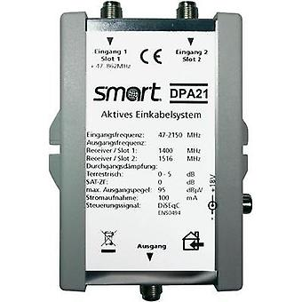 SAT single cable multiswitch Smart DPA 21 Inputs (multiswitches): 2 (2 SAT/0 terrestrial) No. of participants: 2
