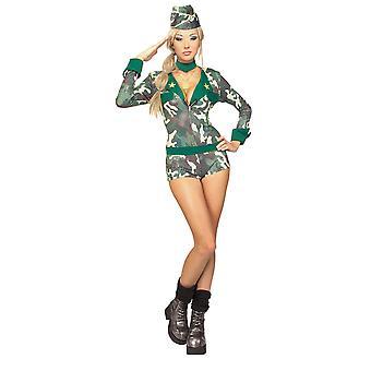 Army Girl paillettes militare soldato Camo combattimento donne Sexy Costume