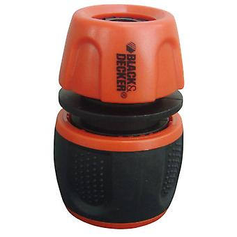 Black and Decker Hose connector with water stop 19mm