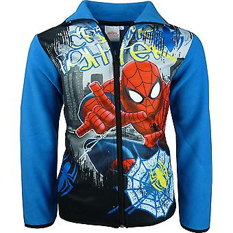 Marvel Spiderman Boys Full Zipper Fleece Sweatshirt