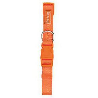 Freedog Basic Orange Nylon krage 10mm (hundar, kragar, Leads och selar, halsband)