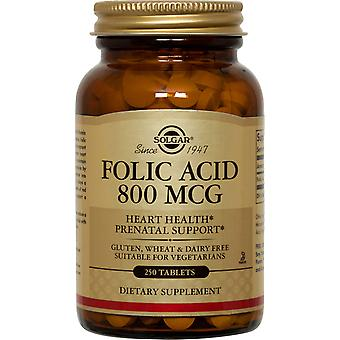Solgar foliumzuur 800 mcg tabletten 250ct